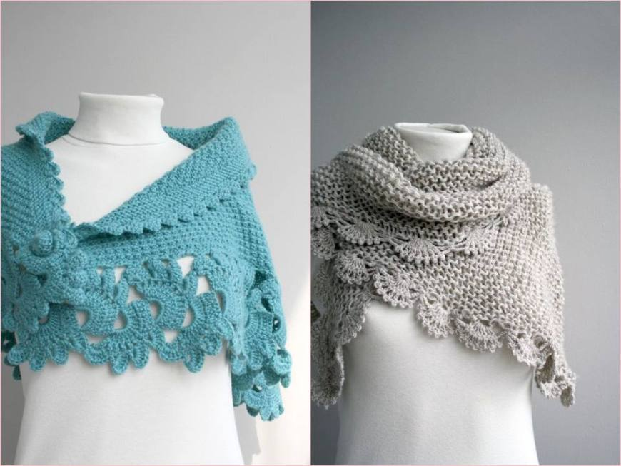 10 diy xale cachecol em croche - crocheterapia