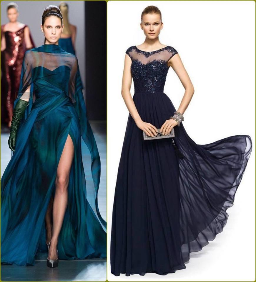 vestido para a mãe da noiva ou noivo - moda anti-idade - longo - defrenteparaomar.com