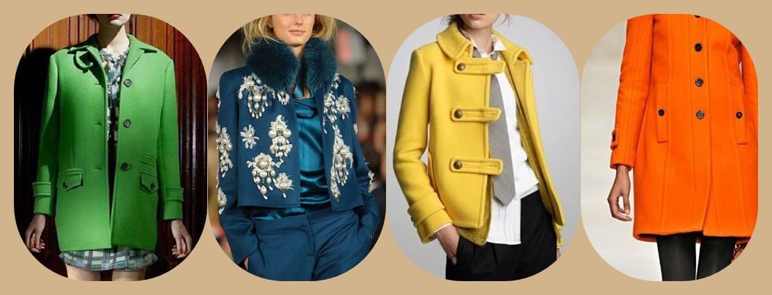 casacos de cores quentes