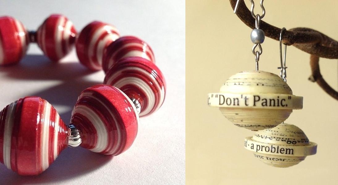 DIY - bijuterias de papel reciclado