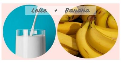Leite com banana - como potencializar alimentos naturalmente