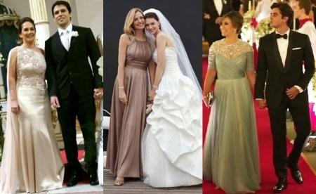 vestido longo para o casamento dos filhos - moda anti-idade