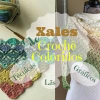 16 Xales de crochê coloridos - lãs, técnicas e gráficos