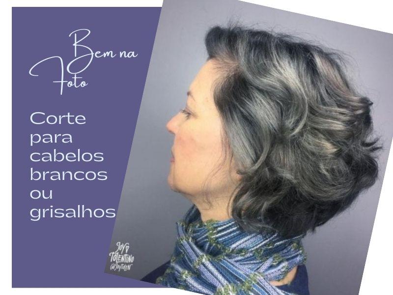 Bem na Foto: Corte para cabelos brancos ou grisalhos médios