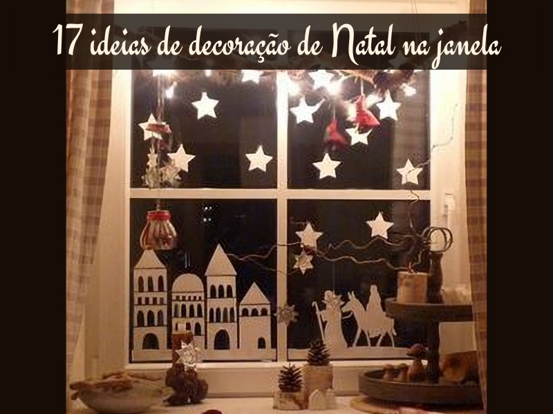 +17 ideias de decoração de Natal na janela