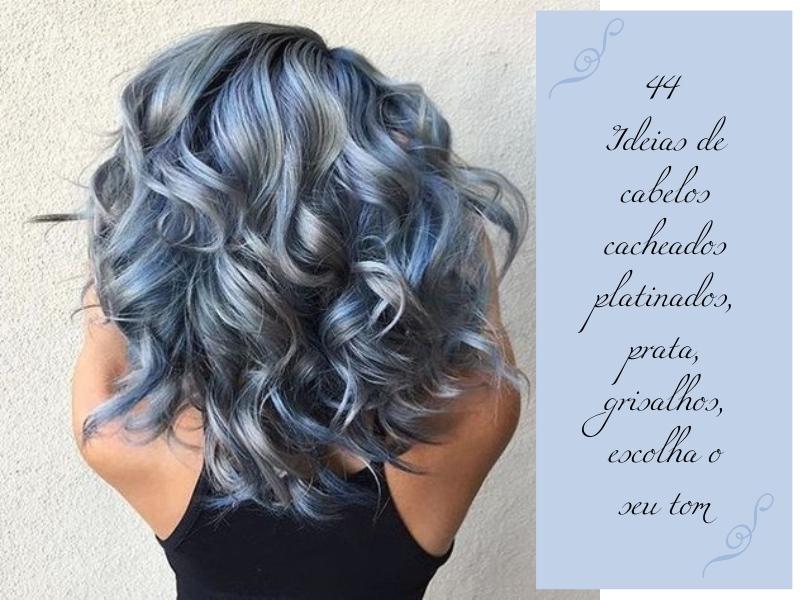 44 Ideias de cabelos cacheados platinados, prata, grisalhos, escolha o seu tom