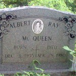 Albert Ray McQueen's grave, courtesy of his family