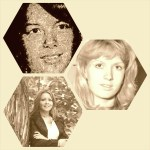 Valerie Klossowsky, Julie Benning, and Lisa Peak. Photographs courtesy of their famiies. Grid by AdS