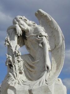 leaning angel