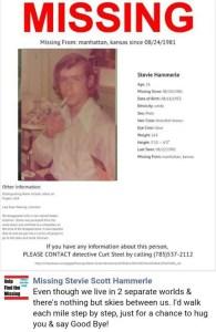 Missing: Stephen Scott Hammerle/NamUs
