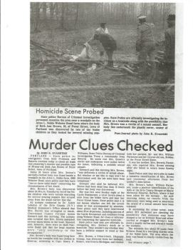 Murder clues checked