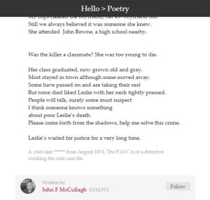 Leslie Zaret poem 2