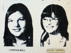 Hazel Juanita Hanna and Cynthia Lorraine Bell from The Kansas City Times, Aug 12, 1976