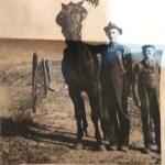 David Alonzo Van Meter, his horse Prince, and his nephew Goldman Cruse.
