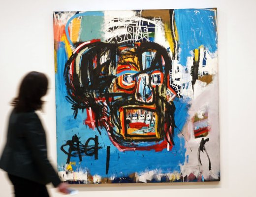"""Untitled,"" a Basquiat painting from 1982, sold for $110.5 million"