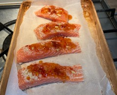 sesame and ginger salmon - Chinese takeaway alternative