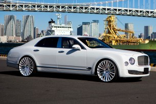 The Bentley Mulsanne is the most expensive Bentley you can buy and is a rolling monument to luxury. It's powered by a 505-horsepower V8 that makes a humongous 752 pound-feet of torque. Considering that the Mulsanne weighs close to 6,000 pounds, it needs that much power to get down the road. It's the exact opposite of a sports car, though, instead focusing on floating down the road in supreme comfort.