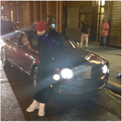 While J.R. enjoys fast cars and heavy duty cars, he also has a luxurious side. He's pictured above with his Bentley Mulsanne, which retails for around $350,000. This is definitely a flashy car, top of the line Bentley.