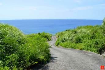 ヤヒジュ海岸に続く道