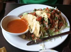 Tacos a la Rosario's  Served with salsa de molcajete.