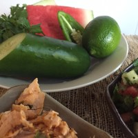 Spicy Salmon Tacos With Watermelon Salsa