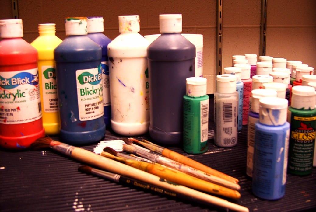 deGranero clases pintura Madrid fundir colores acrílicos