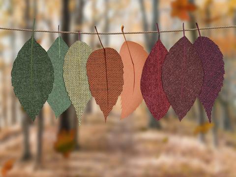 Fabric leaf