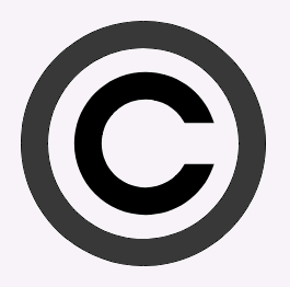 copyright symbol sign
