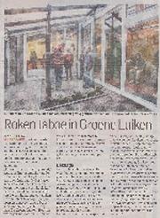 "Artikel in AD 11 dec. 2014 ""Roken taboe in Groene Luiken"""