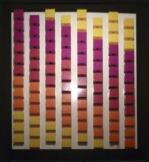 Expositie in aanloophuis De Groene Luiken van abstracte schilderijen van Michel Meulstee - foto 2