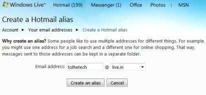 email-alias-hotmail