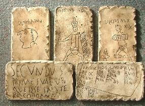 Amostra de pichações (uma com o ilustre Secundus).