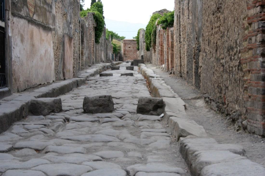 Rua em Pompeia.