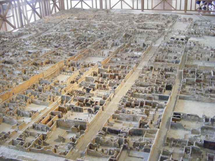 Maquete das ruínas da cidade.