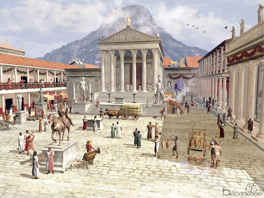 Representação do Fórum de Pompeia.
