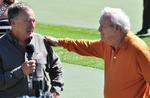 (Johnny Morris thanks Palmer for his contributions to Top of The Rock.)