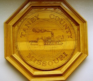 Taney County Logo Wood