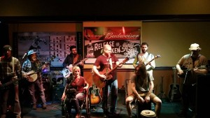 The Lori Locke Band performs at the benefit for Allyson Dalton Sunday, Jan. 31, 2016 at Time Out Sports Bar & Grill in Branson.
