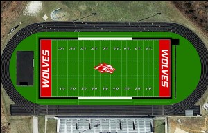 Synthetic turf rendering provided by Reeds Spring School District.