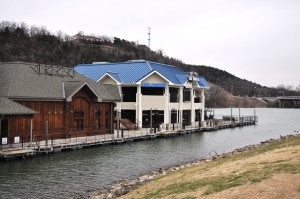 Main Street Marina featuring Main Street Lake Cruises is now located on the south end of Branson Landing.