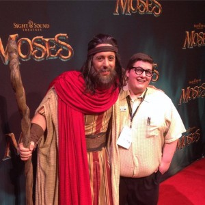 Fraser Armstrong and Reporter Tim Church on VIP Red Carpet night at the Sight and Sound Theatre