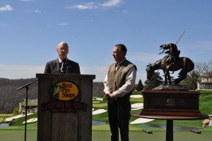 President Jerry Davis and Bass Pro Founder Johnny Morris at Top of the Rock Golf Course