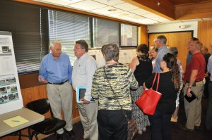 The open house ran from 2 to 4 and 5 to 7 p.m. in the municipal courtroom. Dozens attended the early session.