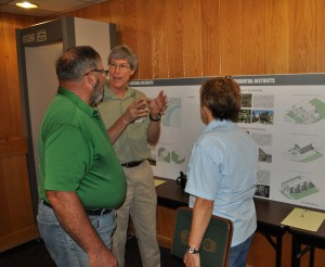 Branson residents provide input on several areas of interest, including height, setback, parking, special events and signage, during a special rezoning open house Tuesday, June 7, 2016 at Branson City Hall. (photos by Sam Clanton)