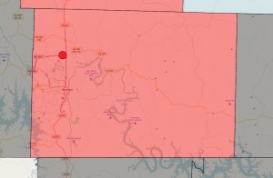 Branson outage map