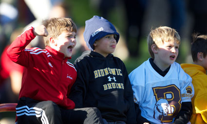 Even children were fired up for the way Brunswick School came back against the Pride during Homecoming. (John Ferris Robben photo)