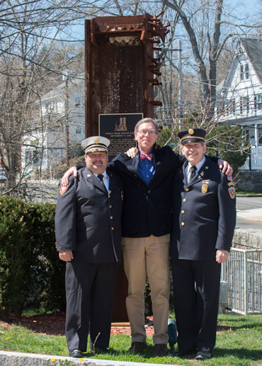 Left to right: Mike Hoha, District Chief, Glenville Volunteer Fire Company; Terry Betteridge, Owner and CEO, Betteridge Jewelers; Sandy Kornberg, President, Glenville Volunteer Fire Company.