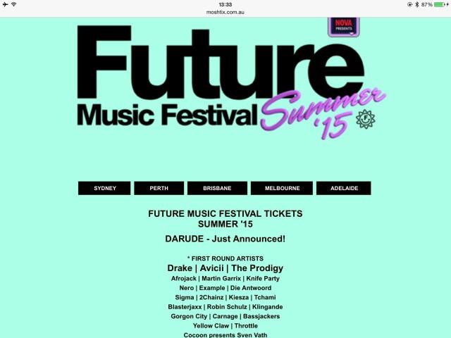 Future Music Festivalラインナップ