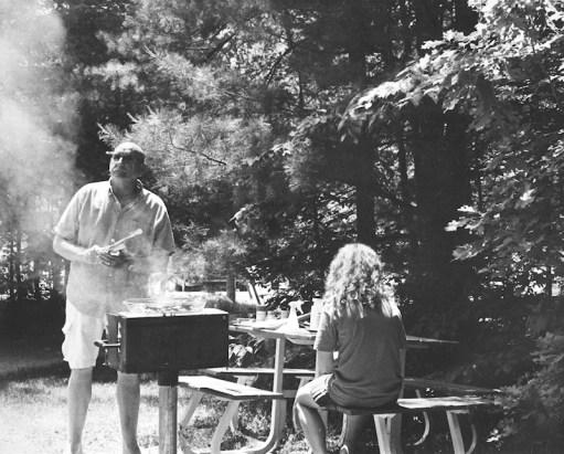 At a picnic.