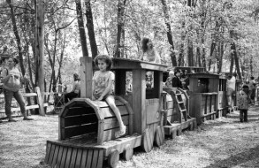 The Wooden Train, John Ball Zoo, Grand Rapids, Michigan